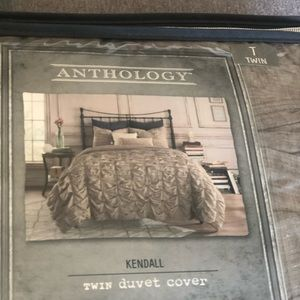 New Anthology Twin Duvet cover Kendall  oatmeal